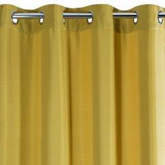 Zasłona Elisa z ozdobnym strukturalnym splotem musztardowa przelotki 140x250 cm - 140x250 - Musztardowy 4