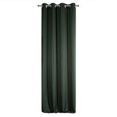 Zasłona Elisa z ozdobnym strukturalnym splotem ciemnozielona przelotki 140x250 cm - 140 X 250 cm - zielony 6