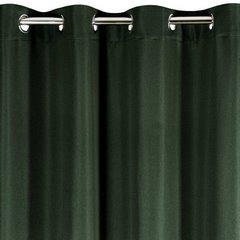 Zasłona CIEMNOZIELONA wzór jodełki przelotki 140x250 cm - 140x250 - zielony 1