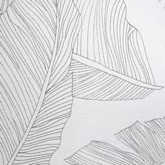 NADINE BIAŁA ZASŁONA W SREBRNE LIŚCIE NA PRZELOTKACH 140x250cm DESIGN91 - 140 X 250 cm - biały/srebrny 4
