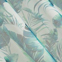 Zasłony do salonu w egzotyczne liście granat szary na przelotkach - 140 X 250 cm - zielony 3
