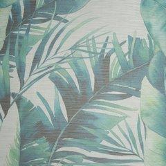 Zasłony do salonu w egzotyczne liście granat szary na przelotkach - 140 X 250 cm - zielony 4