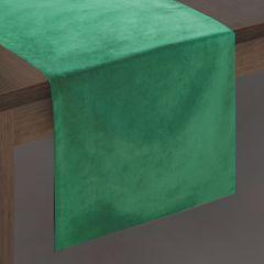 Ciemny zielony bieżnik z welwetu do jadalni 35x140 cm - 35 X 140 cm - c.zielony 2