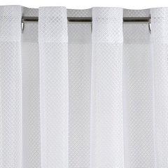 Ażurowa zasłona gotowa biała na przelotkach 140x250 cm - 140x250 - Biały 3