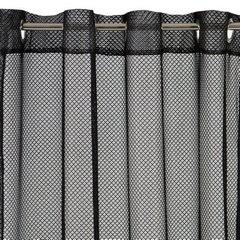 Ażurowa zasłona gotowa czarna na przelotkach 140x250 cm - 140 X 250 cm - czarny 4