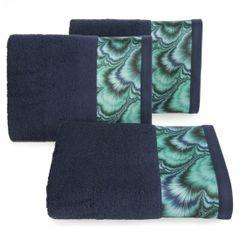 Granatowy ręcznik kąpielowy - mój wybór Eva Minge 70x140 cm - 70 X 140 cm - granatowy 1