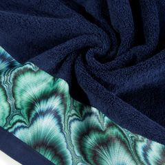 Granatowy ręcznik kąpielowy - mój wybór Eva Minge 70x140 cm - 70 X 140 cm - granatowy 5