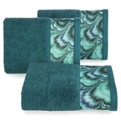 Turkusowy ręcznik kąpielowy - mój wybór Eva Minge 50x90 cm - 50 X 90 cm - turkusowy 1