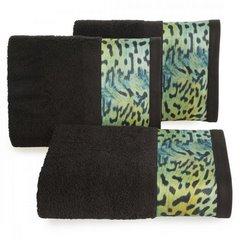 Ręcznik kąpielowy - mój wybór Eva Minge - czarny i zwierzęcy wzór 50x90 cm - 50 X 90 cm - czarny 1