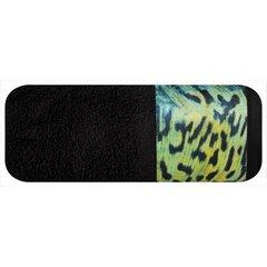 Ręcznik kąpielowy - mój wybór Eva Minge - czarny i zwierzęcy wzór 50x90 cm - 50 X 90 cm - czarny 4