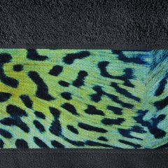 Ręcznik kąpielowy - mój wybór Eva Minge - grafit i zwierzęcy wzór 70x140 cm - 70x140 - Grafitowy 2