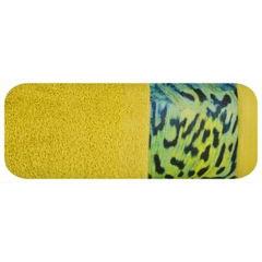 Ręcznik kąpielowy - mój wybór Eva Minge - musztardowy i zwierzęcy wzór 50x90 cm - 50 X 90 cm - musztardowy 2