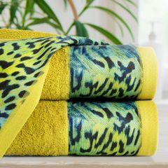 Ręcznik kąpielowy - mój wybór Eva Minge - musztardowy i zwierzęcy wzór 50x90 cm - 50 X 90 cm - musztardowy 3