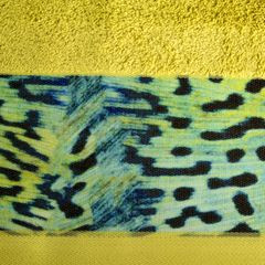 Ręcznik kąpielowy - mój wybór Eva Minge - musztardowy i zwierzęcy wzór 50x90 cm - 50 X 90 cm - musztardowy 4