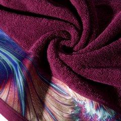 Amarantowy ręcznik kąpielowy - moj wybór Eva Minge - 50x90 cm - 50 X 90 cm - amarantowy 7