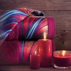 Amarantowy ręcznik kąpielowy - moj wybór Eva Minge - 50x90 cm - 50 X 90 cm - amarantowy 9