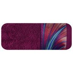 Amarantowy ręcznik kąpielowy - moj wybór Eva Minge - 50x90 cm - 50 X 90 cm - amarantowy 2