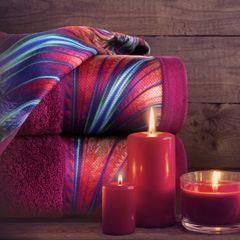 Amarantowy ręcznik kąpielowy - moj wybór Eva Minge - 50x90 cm - 50 X 90 cm - amarantowy 3
