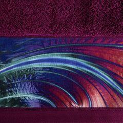 Amarantowy ręcznik kąpielowy - moj wybór Eva Minge - 50x90 cm - 50 X 90 cm - amarantowy 4