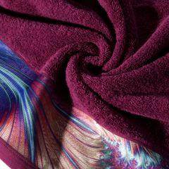 Amarantowy ręcznik kąpielowy - moj wybór Eva Minge - 50x90 cm - 50 X 90 cm - amarantowy 5