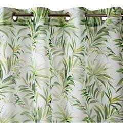 Zasłona w liście palmowe NANCY na przelotkach 140x250 - 140x250 - biały, oliwkowy, zielony 2
