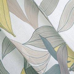 Zasłony wzór w liście naturalna kolorystyka przelotki 140x250 cm - 140 X 250 cm - stalowy 3