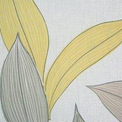 Zasłony wzór w liście naturalna kolorystyka przelotki 140x250 cm - 140 X 250 cm - stalowy 4
