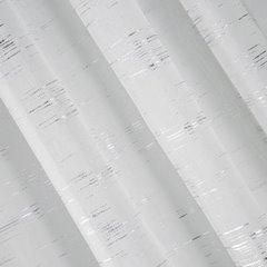 LYN BIAŁA ZASŁONA ZE SREBRNYM NADRUKIEM na przelotkach 140x250 cm Design91 - 140 X 250 cm - biały/srebrny 2