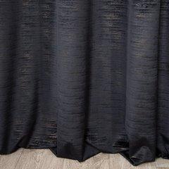 ALUVIA CZARNA ZASŁONA Z WELWETU STRUKTURALNEGO 140x250cm na przelotkach - 140 X 250 cm - czarny 3