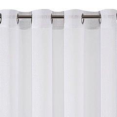 Biała FIRANA Z MOHEROWĄ NICIĄ na przelotkach SAKALI 350x250 cm - 350 X 250 cm - biały 2