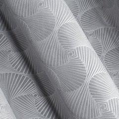 Srebrna ZASŁONA WELWETOWA wytłaczana na przelotkach ELLEN 140x250 cm Design91 - 140 X 250 cm - szary 2