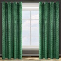 Zielona ZASŁONA WELWETOWA wytłaczana na przelotkach ELLEN 140x250 cm Design91 - 140 X 250 cm - zielony 1