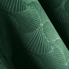 Zielona ZASŁONA WELWETOWA wytłaczana na przelotkach ELLEN 140x250 cm Design91 - 140 X 250 cm - zielony 2
