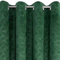 Zielona ZASŁONA WELWETOWA wytłaczana na przelotkach ELLEN 140x250 cm Design91 - 140 X 250 cm - zielony 3