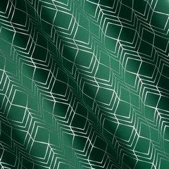 POLI ZIELONA ZASŁONA ZACIEMNIAJĄCA NA PRZELOTKACH ZE ZŁOTYM WZOREM GEOMETRYCZNYM 140x250cm - 140 X 250 cm - zielony 3