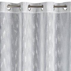TILDA BIAŁA FIRANA LEKKA ZASŁONA srebrny wzór KÓŁKA 140X250 - 140 X 250 cm - biały 2