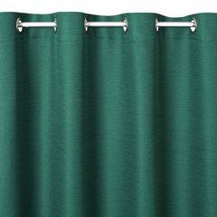STYLE ZIELONA ZASŁONA O SPLOCIE LNIANYM NA PRZELOTKACH 140x250cm - 140 X 250 cm - zielony 6