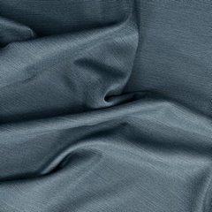 STYLE DŻINSOWA ZASŁONA O SPLOCIE LNIANYM W STYLU EKO NA PRZELOTKACH 140x250cm - 140 X 250 cm - niebieski 4