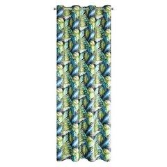 BONNIE CZARNA ZASŁONA Z WELWETU W PALMOWE LIŚCIE na przelotkach 140x250cm - 140 X 250 cm - zielony 6