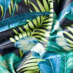 BONNIE CZARNA ZASŁONA Z WELWETU W PALMOWE LIŚCIE na przelotkach 140x250cm - 140 X 250 cm - zielony 4