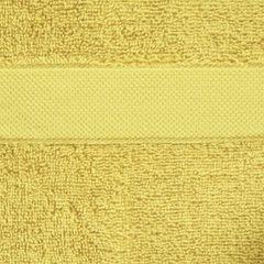 Miekki chłonny ręcznik kąpielowy musztardowy 50x90 - 50 X 90 cm - musztardowy 7