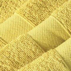Miekki chłonny ręcznik kąpielowy musztardowy 50x90 - 50 X 90 cm - musztardowy 9