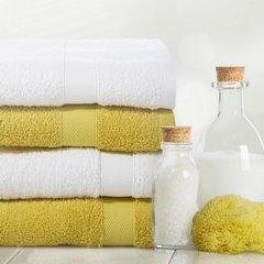 Miekki chłonny ręcznik kąpielowy musztardowy 50x90 - 50 X 90 cm - musztardowy 10