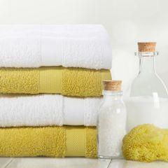 Miekki chłonny ręcznik kąpielowy musztardowy 50x90 - 50 X 90 cm - musztardowy 3