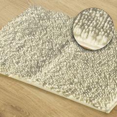 Kremowy dywan shaggy łazienkowy 50x70 cm - 50 x 70 cm - kremowy 1