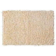 Kremowy dywan shaggy łazienkowy 50x70 cm - 50 x 70 cm - kremowy 2