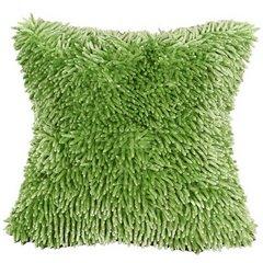 Zielona POSZEWKA OZDOBNA shaggy 40x40 cm - 40 X 40 cm - zielony 5
